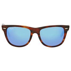 Ray Ban Striped Havana Wayfarer Sunglasses